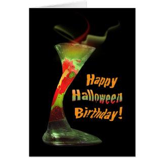Happy Halloween Birthday Card
