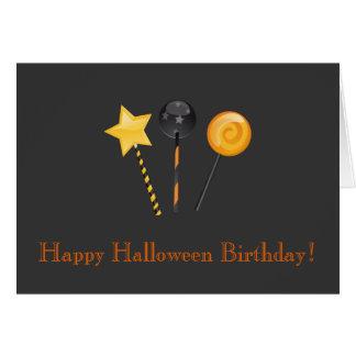 Happy Halloween Birthday! (Festive Lollipops) Card