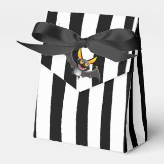 Happy Halloween Black and White Bat Favor Bags Favour Box