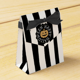 Happy Halloween Black and White Party Favor Bags Favour Box