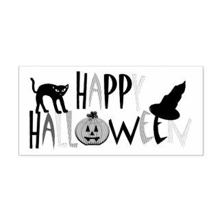 Happy Halloween Black Cat Jack O'Lanten Ink Stamp