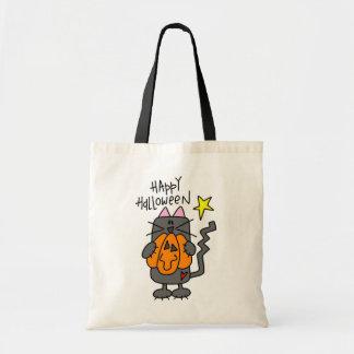 Happy Halloween Black Cat Trick Or Treat Bag