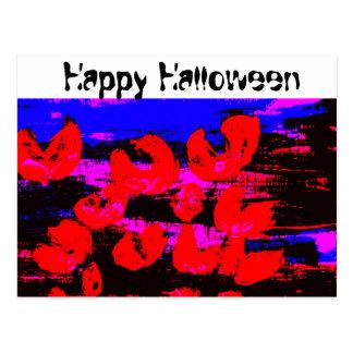 Happy Halloween black night, postcard