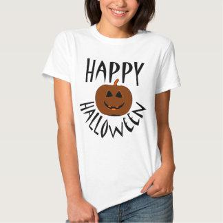 Happy Halloween Black Text T-shirt