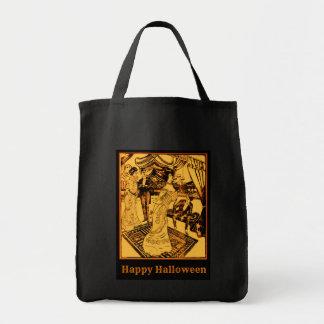 Happy Halloween Black Tote Canvas Bag