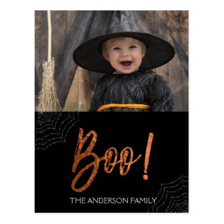 Happy Halloween Boo! Halloween Photo Card