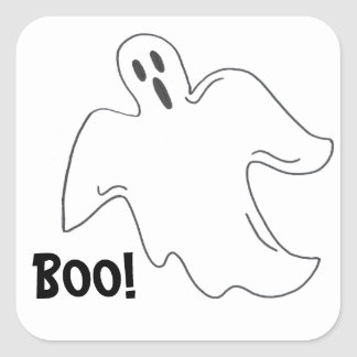 Happy Halloween Boo Spooky Ghost Stickers
