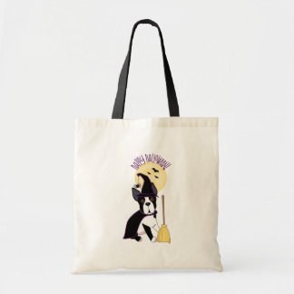 Happy Halloween Boston Terrier Witch Bag