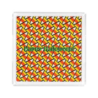 Happy Halloween Candy Corn Pattern