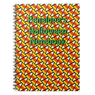 Happy Halloween Candy Corn Pattern Notebook