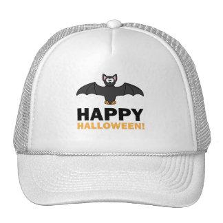 Happy Halloween Cartoon Bat Trucker Hats