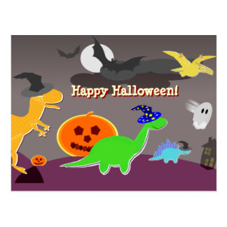 Happy Halloween Cartoon Postcard