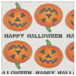 Happy Halloween Carved Pumpkin Pumpkins Fabric