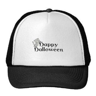 Happy Halloween Cat Trucker Hats
