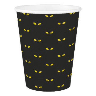 Happy Halloween Cat Scary Eyes Paper Cup