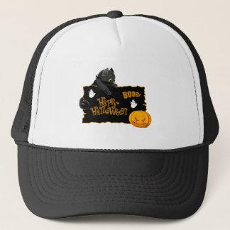 Happy Halloween Cat TShirt Trucker Hat