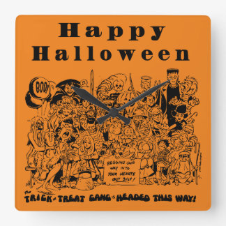 Happy Halloween Character Clocks