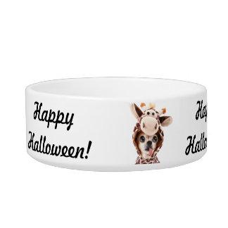 Happy Halloween Chihuahua Pet Bowl Add Photo