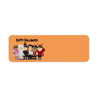 Happy Halloween Children Return Address Label