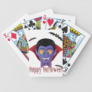 Happy Halloween Count Dracula Illustration Bicycle Playing Cards