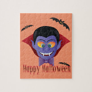 Happy Halloween Count Dracula Illustration Jigsaw Puzzle