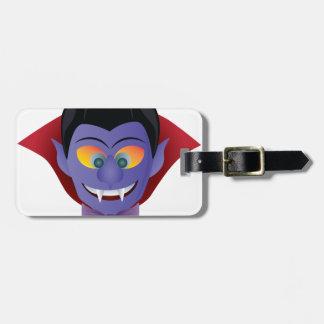 Happy Halloween Count Dracula Illustration Luggage Tag