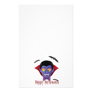 Happy Halloween Count Dracula Illustration Stationery