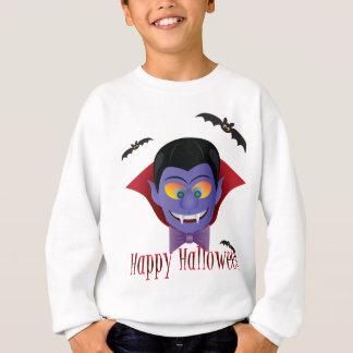 Happy Halloween Count Dracula Illustration Sweatshirt
