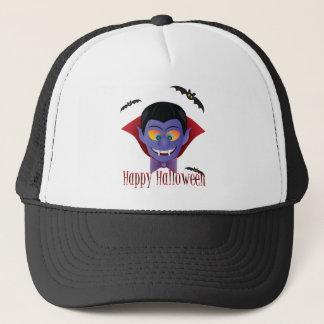 Happy Halloween Count Dracula Illustration Trucker Hat
