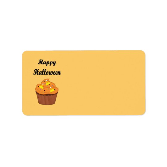 Happy Halloween Cupcake Address Label
