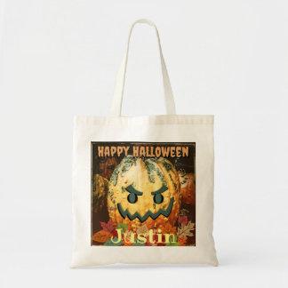 Happy Halloween Custom Jack-o-Lantern Pumpkin Bag