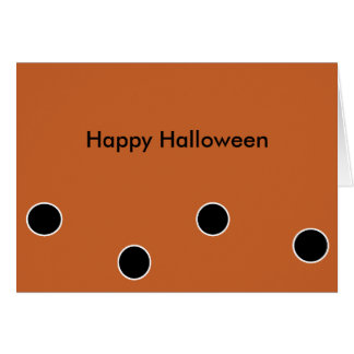 Happy Halloween Customizable Notecard Greeting Cards