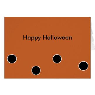 Happy Halloween Customizable Notecard Greeting Card
