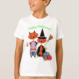 Happy Halloween Cute Cats T-Shirt