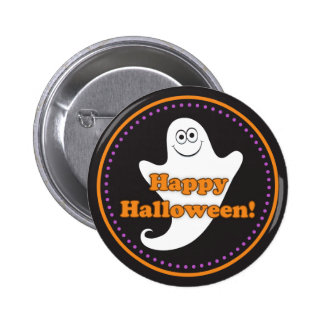 Happy Halloween cute ghost button