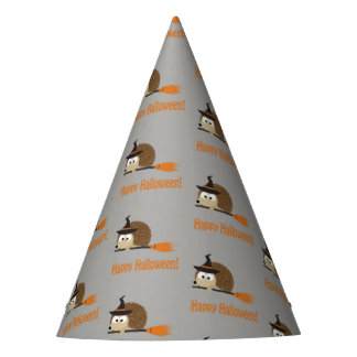 Happy Halloween Cute Hedgehog Witch Party Hat