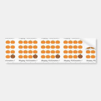 Happy Halloween Cute Pumpkin Patch Car Bumper Sticker