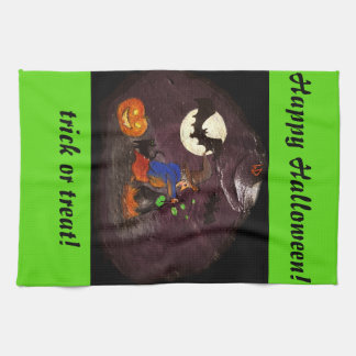 Happy Halloween dishcloth Tea Towel