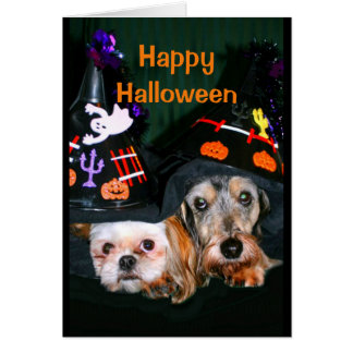 Happy Halloween - Don't Be Afraid Of The Bark! Card