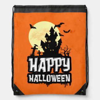 Happy Halloween Drawstring Bag