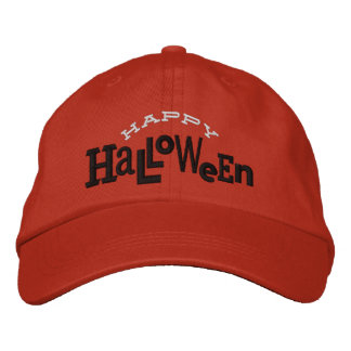 Happy Halloween Eclectic Halloween Embroidery Hat Embroidered Baseball Caps