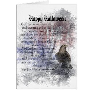 Happy Halloween Edgar Allan Poe Raven Poem Card