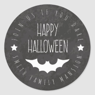 Happy Halloween. Family Party Join Us If You Dare. Classic Round Sticker