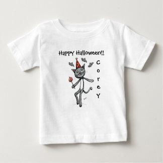 Happy Halloween Festive Black Cat Baby T shirt