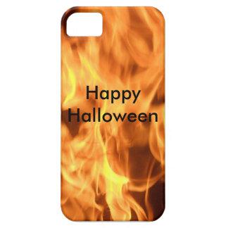 """Happy Halloween"" Fire Design Phone Case"