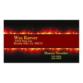 Happy Halloween Flaming Set Business Card Templates