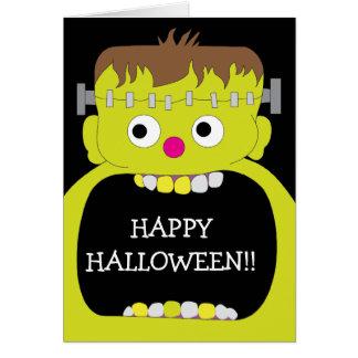 Happy Halloween Frankenstein Monster Card