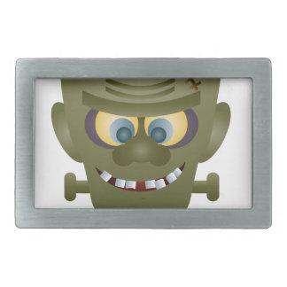 Happy Halloween Frankenstein Monster Illustration Belt Buckles