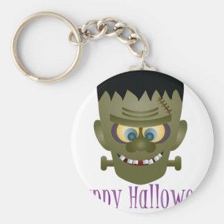 Happy Halloween Frankenstein Monster Illustration Key Ring