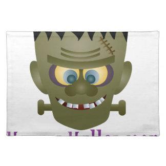 Happy Halloween Frankenstein Monster Illustration Placemat